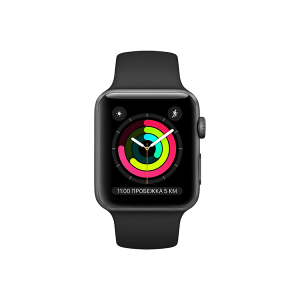 Умные часы Apple Watch S3 38mm Space Gray Aluminum Case with Black Sport Band